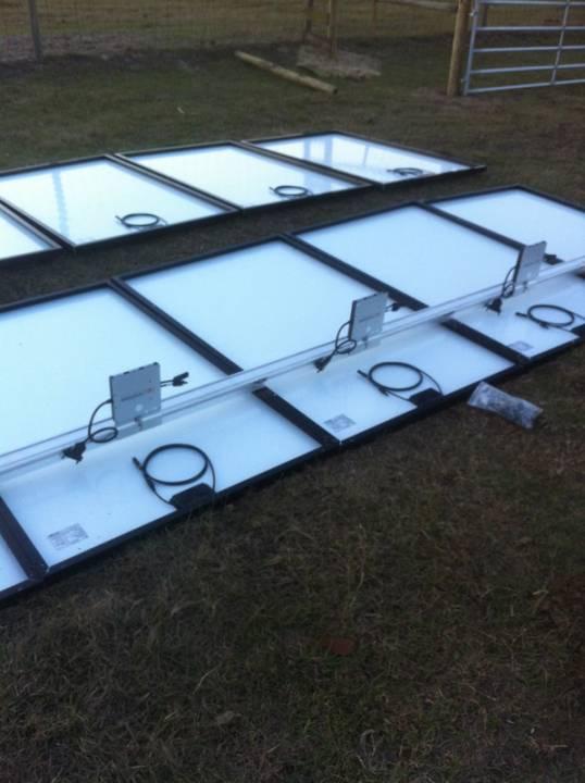 Installing inverters for solar installation in Morriston, FL