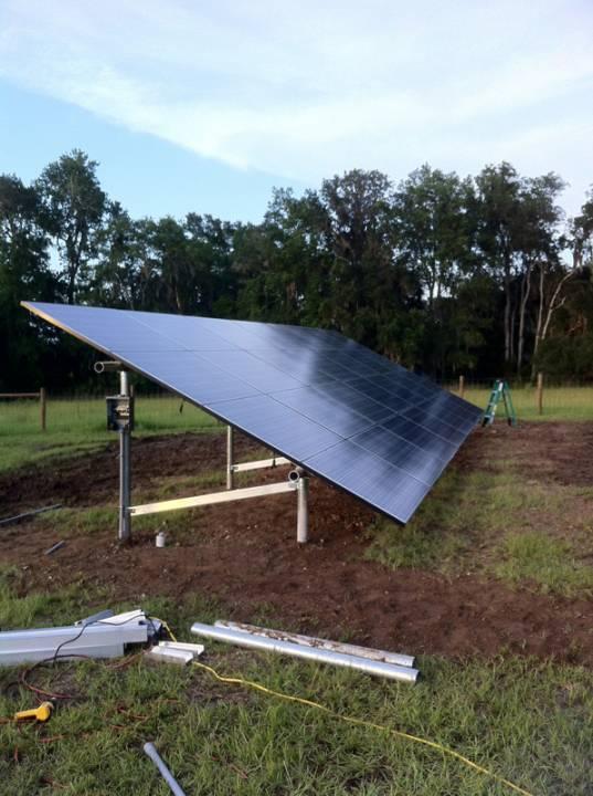 Ground mount solar installation in Micanopy, FL