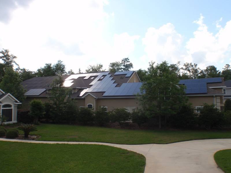 Street View of Solar array installed in Gainesville, FL
