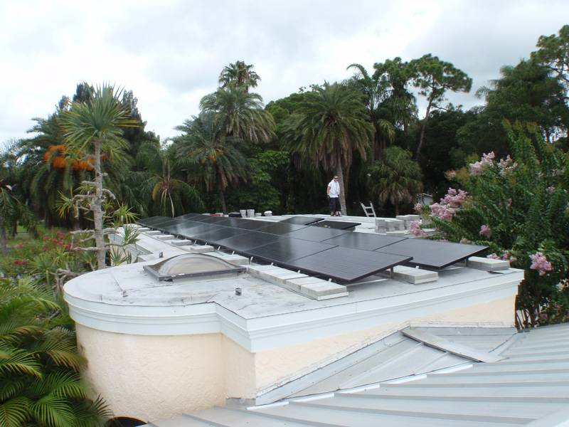 Roof view of solar array installed in St. Pete, FL