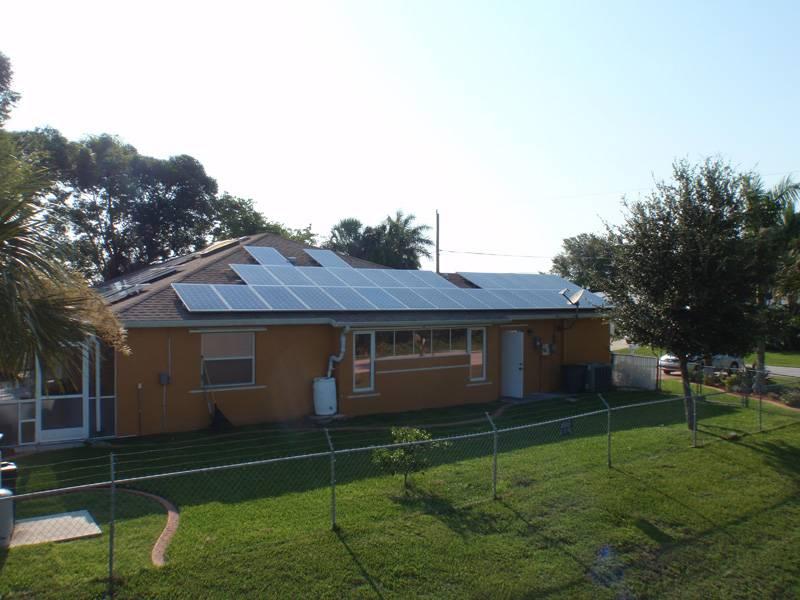 Street view of solar installation in Punta Gorda, FL