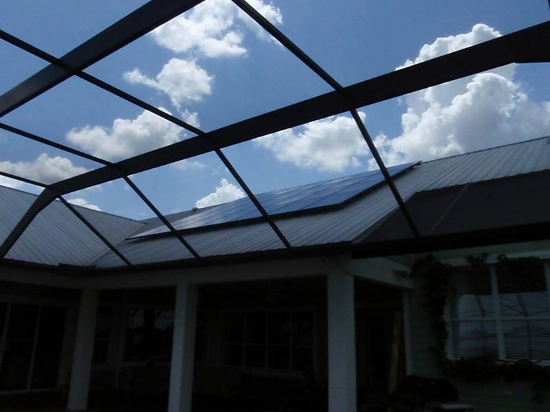 Side view of solar system installed on a metal roof in Auburndale, FL