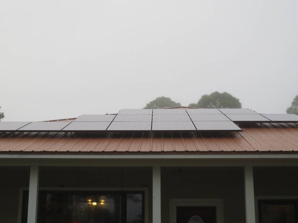 Street View of Solar Array on a metal roof in Eastpoint, FL