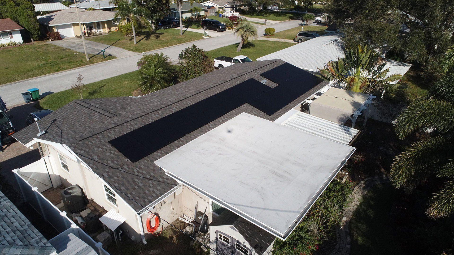 Solar Array of solar installation in Seminole, FL