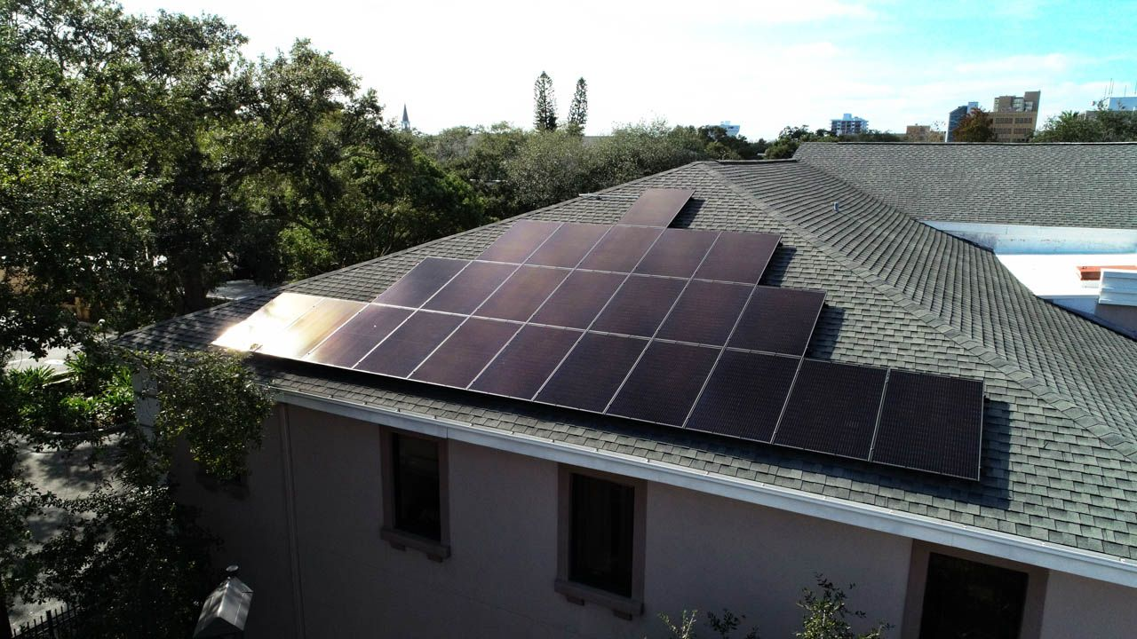 Solar array on a shingle roof in Clearwater, FL