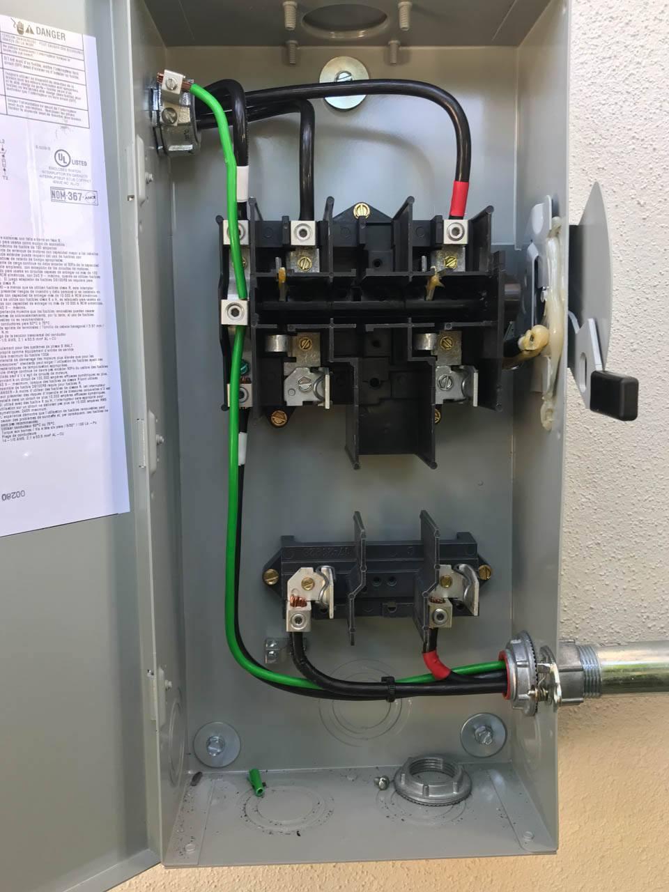 Disconnect wiring of a solar installation in Holmes Beach, FL