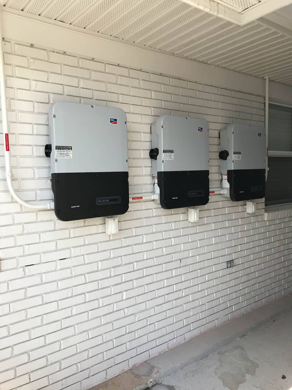 Inverters installed for a solar system in Lakeland, FL