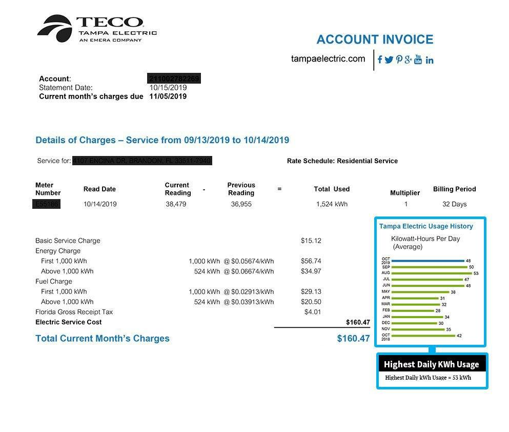 TECO Power Bill