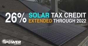 26% Solar Tax Credits Extended until 2022!